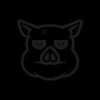 gelangweiltes-schwein Ausmalbilder