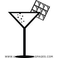 cocktail Coloring Page