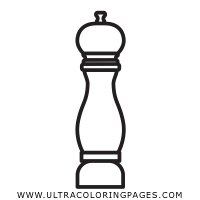 pepper-grinder Coloring Page