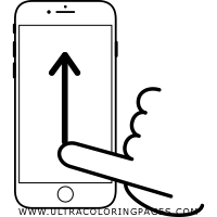 swipe-up Coloring Page